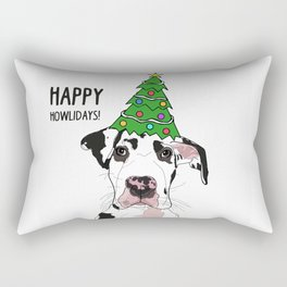Happy Howlidays Great Dane Rectangular Pillow