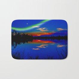 North light over a lake Bath Mat