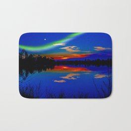 North light over a lake Bath Mat