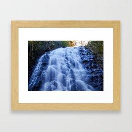 Crabtree Falls at Golden Hour Framed Art Print