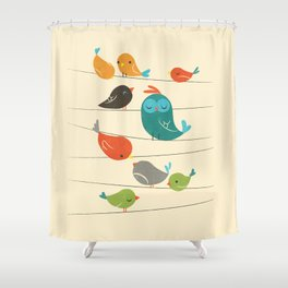 Colorful Birds Shower Curtain