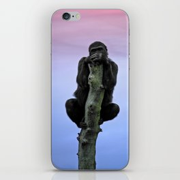 Lope The Gorilla At Sunset iPhone Skin