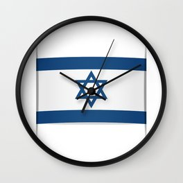 Flag of Israel. Vector illustration of a stylized flag. The slit in the paper with shadows Wall Clock