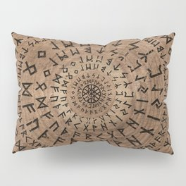 Elder Futhark Circular Composition Pillow Sham