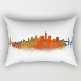 San Francisco City Skyline Hq v2 Rectangular Pillow