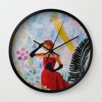 vogue Wall Clocks featuring Vogue by John Turck