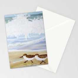Sandpipers at Emerald Isle Stationery Cards
