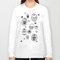 cupcakes Long Sleeve T-shirts featuring Cupcakes! by Duru Eksioglu