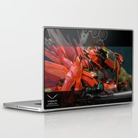 gundam Laptop & iPad Skins featuring Aesalson - MG Sinanju Conversion by chocofalcon