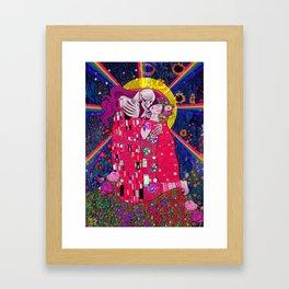 The Kiss Macabre Framed Art Print