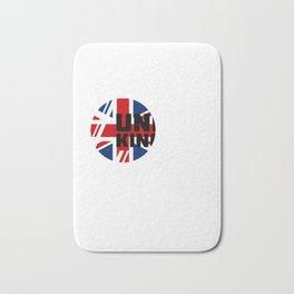 Uk Flag English Teacher England Great Britian Bath Mat