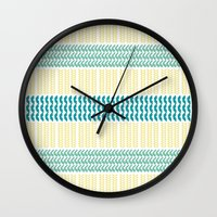 knit Wall Clocks featuring Knit Pattern by K&C Design