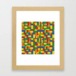 Colored Building Blocks Framed Art Print