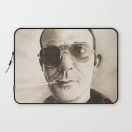 Hunter S. Thompson Portrait in Charcoal Laptop Sleeve