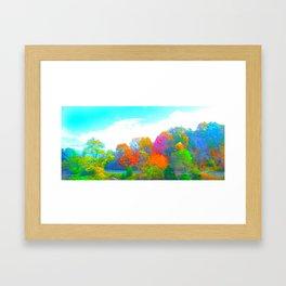 Neon Forest Framed Art Print