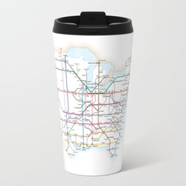 Interstate Highways as a Subway Map Travel Mug