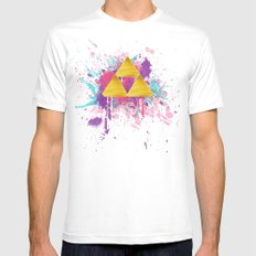 Splash Triforce MEDIUM Mens Fitted Tee White