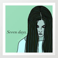 Female Trouble Series: Samara from The Ring Art Print