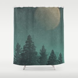 Wild Night Pines: Rustic Outdoor Landscape  Shower Curtain