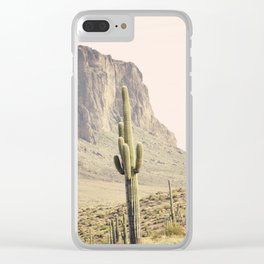 Superstitious Mountain Clear iPhone Case