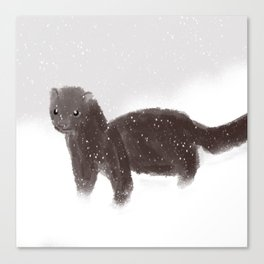 WinterWeasel Canvas Print
