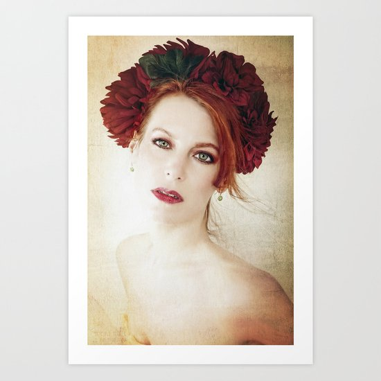 A Diadem of Red Art Print