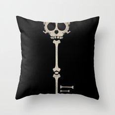 Skeleton Key Throw Pillow