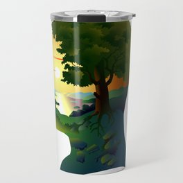 human nature, inner space of a portrait Travel Mug