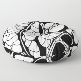 The serpent slayer Floor Pillow