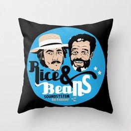 Rice & Beans Sound Poster Throw Pillow