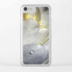 Water Lily Simplicity Clear iPhone Case