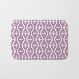 Mid century Modern Bulbous Star Pattern Lavender Bath Mat