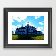 Old Church and Grave marker Framed Art Print