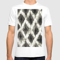 Ikat3 MEDIUM White Mens Fitted Tee