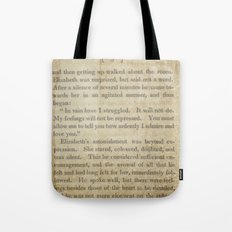 Pride and Prejudice  Vintage Mr. Darcy Proposal by Jane Austen   Tote Bag
