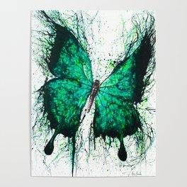 Night Garden Butterfly Poster