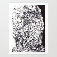 sleep Art Prints featuring Sleep by Haslin