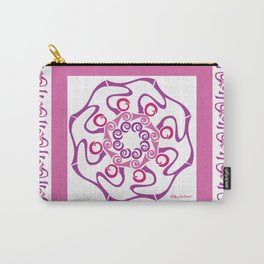 Hope Mandala with Border - Fuschia White Carry-All Pouch