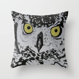 African Spotted Eagle Owl Throw Pillow