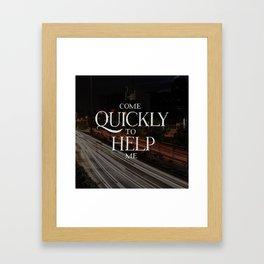 Psalm 38 Framed Art Print