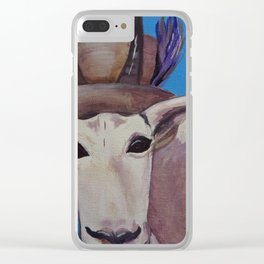 A Tragically Hip Mountain Goat Clear iPhone Case