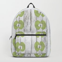 White Wood Apples Backpack