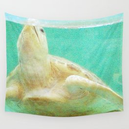 Portrait of a Sea Turtle Wall Tapestry