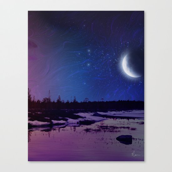 Night - From Day And Night Painting Canvas Print