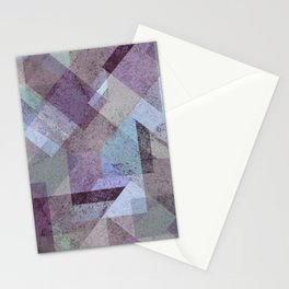 PLUM TURQUOISE ABSTRACT GEOMETRIC Stationery Cards