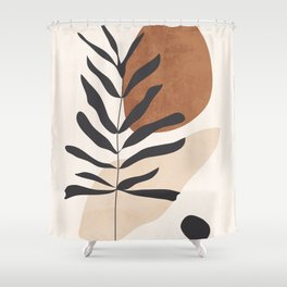 Abstract Art /Minimal Plant 12 Shower Curtain