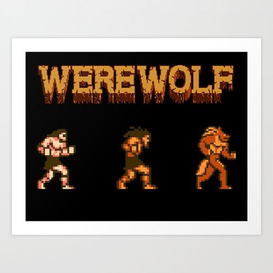 Unleash the beast- werewolf tribute Art Print