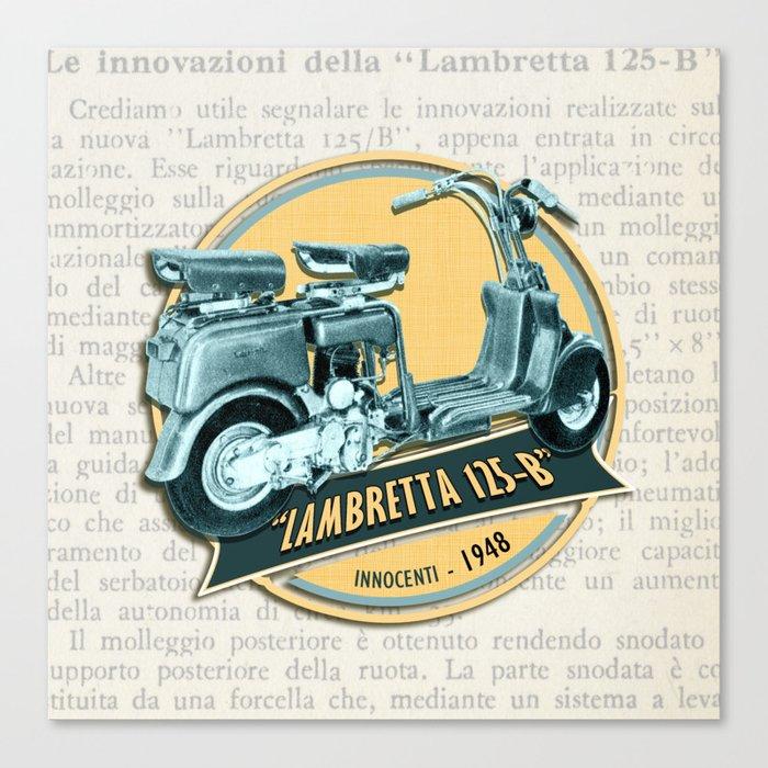 LAMBRETTA 125 B Canvas Print