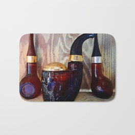 Glass Pipe Bottles Bath Mat