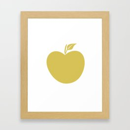 Cute Giant Yellow Fabric Apple Framed Art Print